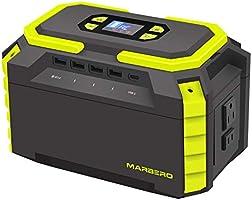 MARBERO ポータブル電源 大容量 60000mAh/222Wh M440 小型 軽量 家庭用蓄電池 PSE認証済み AC(200W 瞬間最大300W)/DC/USB/Type-Cなど出力 急速充電QC3.0 高輝度LEDライト付き...
