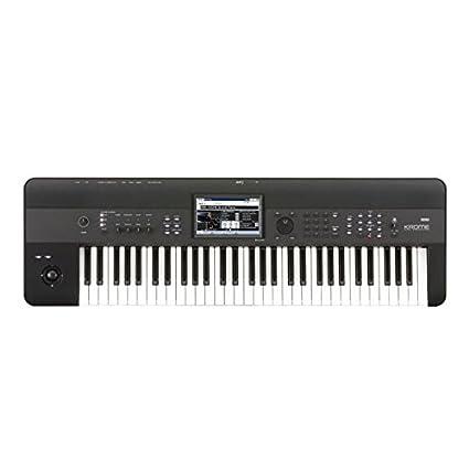 Korg KROME61 61-Key Synthesizer Workstation, Black