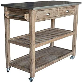 Amazon Com Kitchen Islands With Storage Gray Medium Wood With