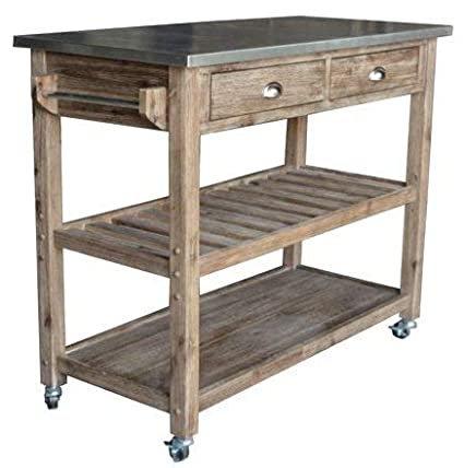 Amazon.com - Kitchen Islands With Storage - Gray Medium Wood ...