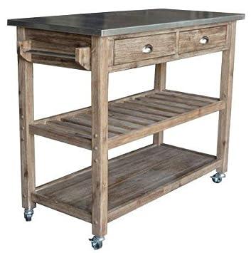 Amazon.com: Islas de la cocina con almacenamiento – madera ...