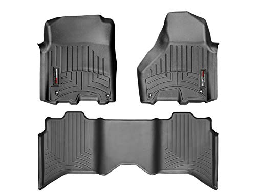 WeatherTech Custom Fit FloorLiner for Ram Truck 1500/2500/3500-1st & 2nd Row (Black)