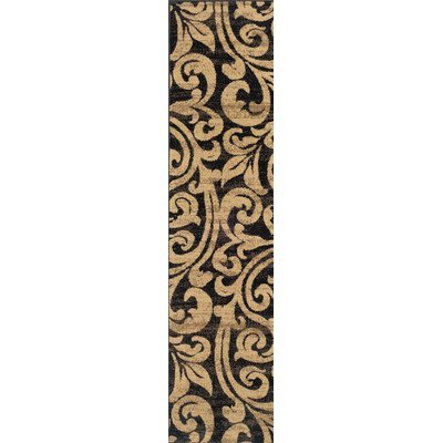Emerson Black/Gold Rug Rug Size: Runner 1'10 x 7'6 by Emerson
