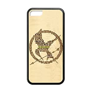 CTSLR Laser Technology The Hunger Games Quote TPU Case Cover Skin for Cheap Apple iPhone 5s for you-1 Pack- Black - 1
