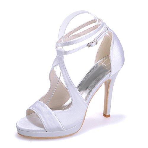 L@YC 5915-19 Damen Hochzeit High Heels / casual Party Büro & Karriere in Ordnung mit White