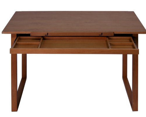 Offex Ponderosa Wood Topped Table/Sonoma, Brown by Offex