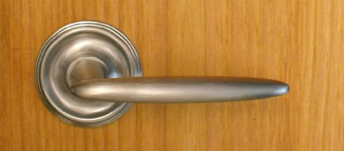 FPL Alexandria Full Dummy Lever Set for Closet Doors or Inactive Double Doors, Satin Chrome (Full Inactive Set)