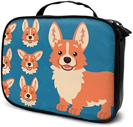 Happy Dog (72) Tragbare Reise Make-up Kosmetiktaschen Organizer Multifunktionskoffer Kulturbeutel