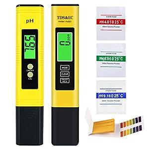 AYUQI PH Tester PH TDS EC Temperatura 4 in 1 Set Test PH Metro 0.01 Risoluzione con Schermo LCD e Calibrazione e… 41w7sFaCPKL. SS300