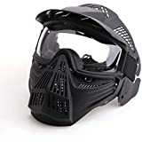 Anyoupin Paintball Mask, Airsoft Mask Full Face with Goggles Impact Resistant for Airsoft BB Hunting CS Game Paintball…