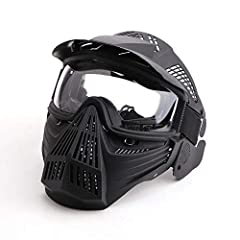 """Specifications:   Size: Full Face Mask. 9.25"""" * 10.23"""" (23.5*26 CM).    Material: Polycarbonate material and TPU plastic impact resistant composite offers full face and head protection.   Eyes protection: PC clear lenses or PC gray l..."""