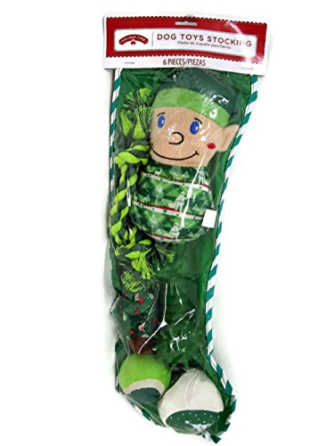 Holiday Time Dog Toys Stocking - Green