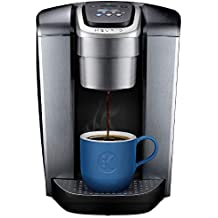 Keurig K-Elite Coffee Maker, Single Serve K-Cup Pod Coffee Brewer, With Iced Coffee Capability, Brushed Silver (Renewed)