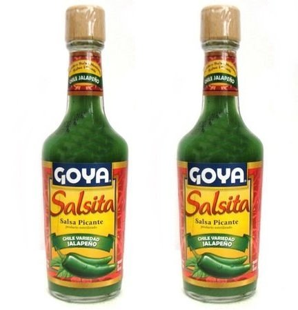 Goya Salsita Hot Sauce Jalapeño Chiles | Salsa Picante 8oz (Pack of 02)