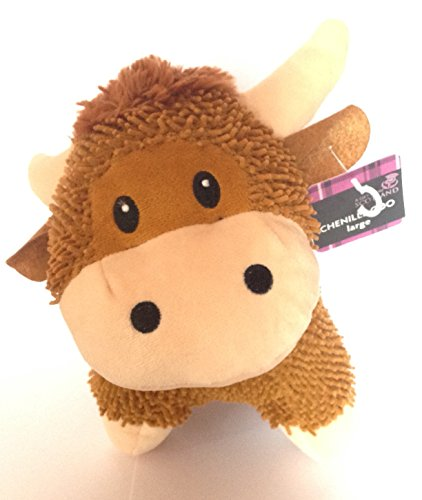 Cuddly Soft Cow (Fancythat Scottish Gift Large Highland Cow Cuddly Chenille Soft Toy UK Gift)