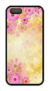 Dreamy Pink Flowers 1 - iPhone 5S Case Funny Lovely Best Cool Customize Black Cover