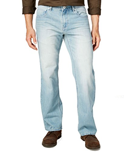 INC International Concepts Mens Barcelona Relaxed Fit Jeans Light Wash Blue (Barcelona Jean)