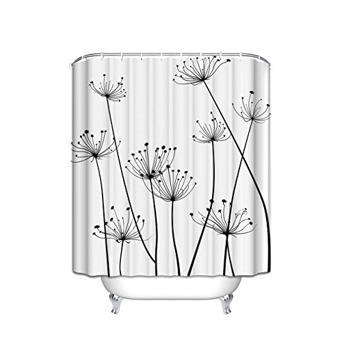 Chic D Thistle Design Fabric Stall Shower Curtain 36 x 72