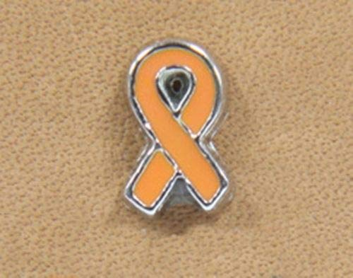 Pewter Awareness Ribbon Charm - Pendant Jewelry Making Orange Awareness Ribbon Silver 7mm Floating Charm for Memory Lockets 1pc