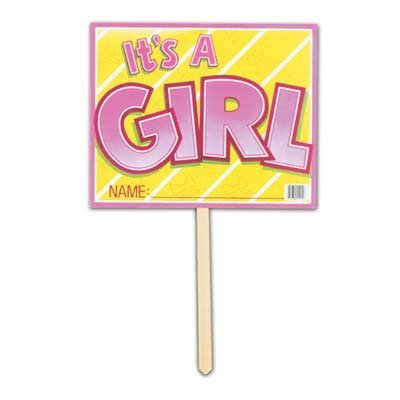 (It's A Girl Yard Sign)