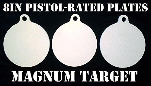 8 Inch Diameter Metal Pistol Shooting Targets - 3pc. set