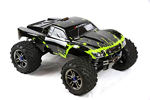 SummitLink Compatible Custom Body Muddy Green Over Black Replacement for 1/10 Scale RC Car or Truck (Truck not Included) EMSS-BG-02