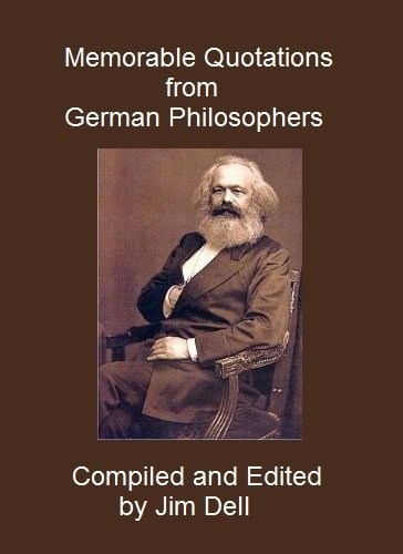 Memorable Quotations from German Philosophers