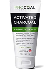 Activated Charcoal Face Mask - Made in UK (A powerful, fast-acting mask to restore radiance to all skin types.)