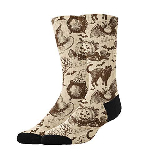 Jinkela Womens Cute Funny Socks Casual Cotton Crew Happy Halloween Party Patterns -