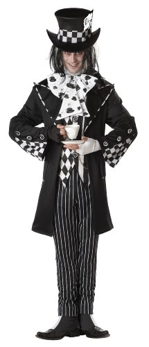 California Costumes Men's Dark Mad Hatter Costume,Multi,Large (Mad Hatter Halloween Party)