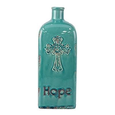 "Stonebriar Accents of Faith 10"" Worn Ceramic Faith Vase"