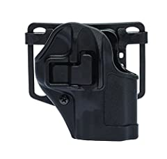 The serpa CQC concealment holster has the auto lock release. It also features a passive retention detent adjustment screw. It has a speed-cut design for rapid draw, target acquisition and re-holster. Fits shoulder, s.T.R.I.K.E., quick disconn...