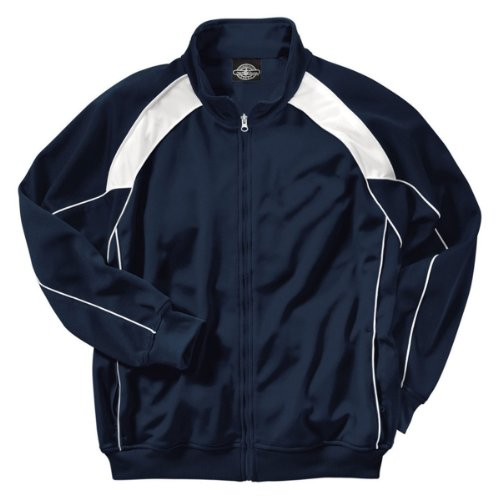 Charles River Apparel Boy's Olympian Jacket, Navy/White, Large (14/16)