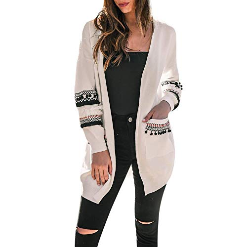 Femmes Longues Manches GreatestPAK Cardigan Veste Hiver Dames Blanc Tops Gilet Chemises Automne Manteau wnYSqXqIA