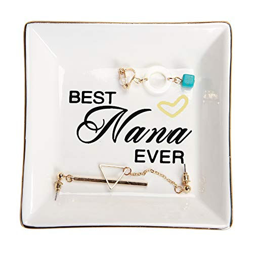 Best Nana Ever Ceramic Trinket Plate