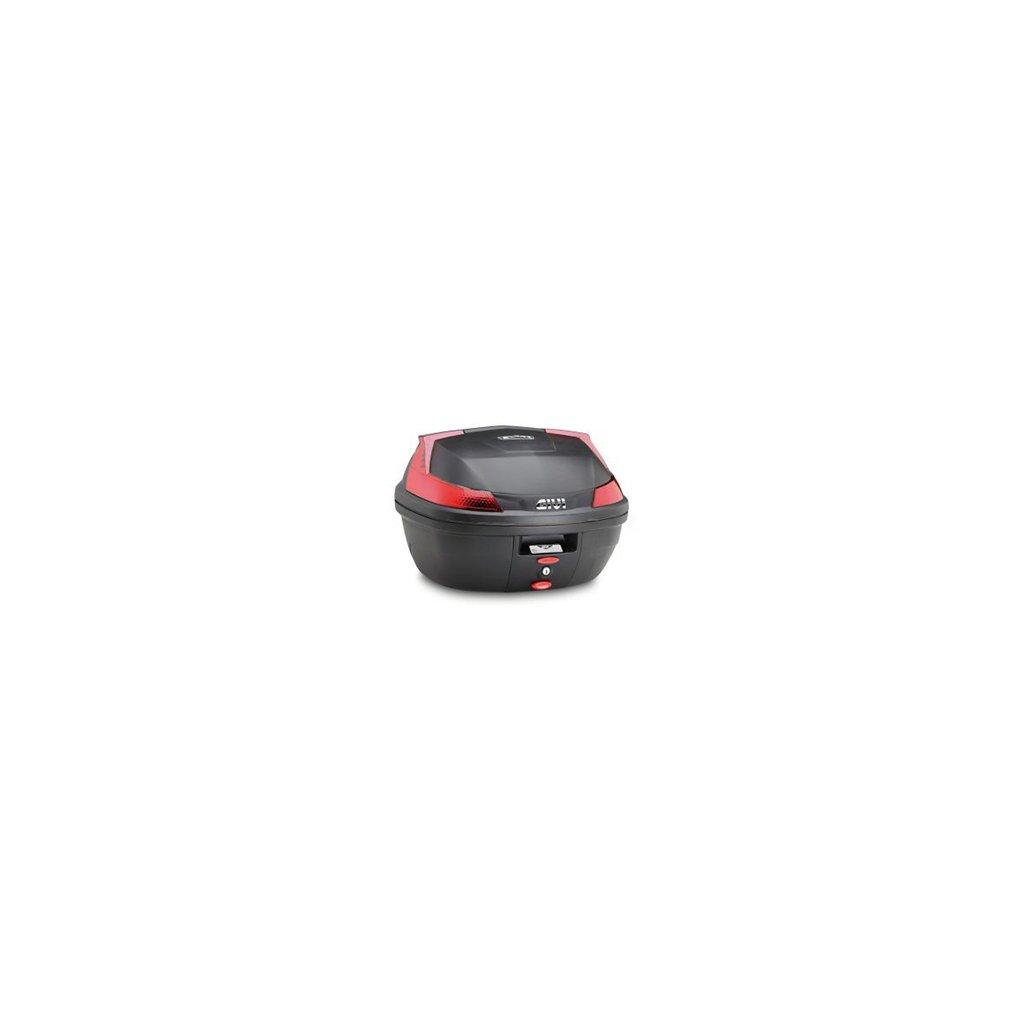 Topcase 37/L Givi B37/Monolock Noir mat avec plaque