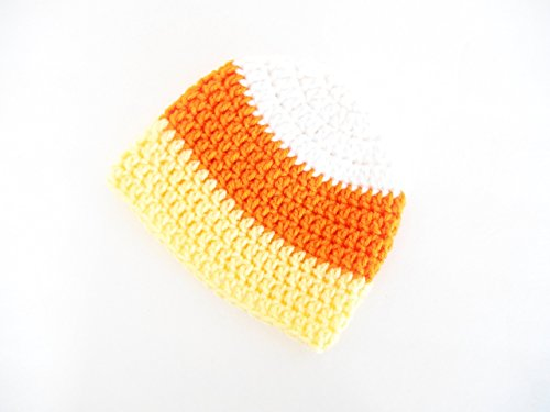 Newborn Candy Corn Costume (Crochet Baby Hat, Halloween Costume for Babies, Candy Corn Photo Prop for Newborns, 3-6)