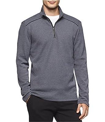 Calvin Klein Men's Jacquard Quarter Zip Sweater