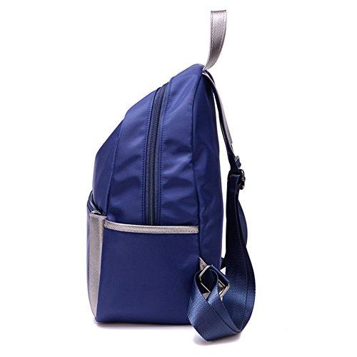 mochila estudiantil,canvas/mochila ocio-negro Azul