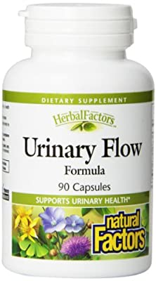 Natural Factors - HerbalFactors Urinary Flow Formula, Supports Urinary Health, 90 Capsules