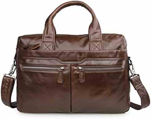 Ybriefbag Unisex Crazy Horse Leather Bag First Layer Cowhide Leather Travel Bag Shoulder Diagonal Duffel Bag Vacation