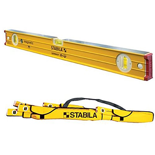"Stabila 38624 24"" Heavy Duty Professional Magnetic Builders Level w/ 59"" Padded Nylon Case -  Stabila Inc., 38624-STABILA59"