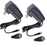 AC Adapter,12V 2A Power Supply Adapter for CCTV Camera,Led Light Strip UL FCC Certificated