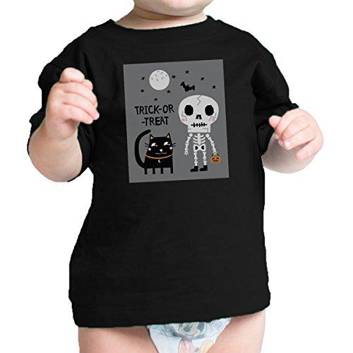 Bébé 365 Manches Shirt or Courtes Printing One Size 24 Body Cat treat 0 À Black Trick Mois garçon Baby rpUOrqIxwn