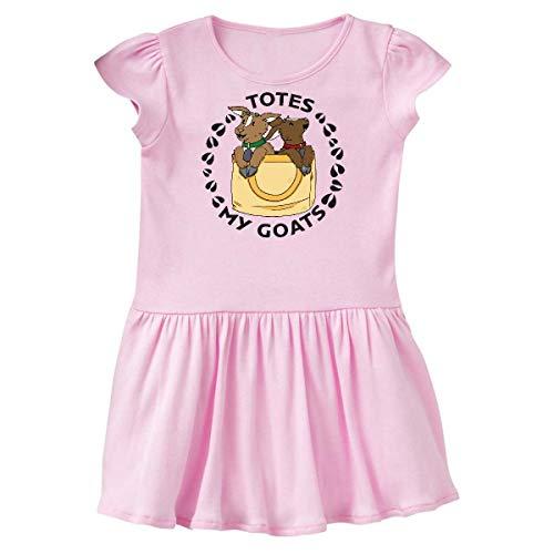(inktastic Cute Goats Totes My Goats Toddler Dress 4T Ballerina Pink)