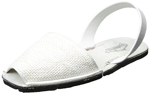 Riudavets Avarca Sandalias de Lona para Mujer, Cesta Blanca, 41 m EU/11 m EE.UU.
