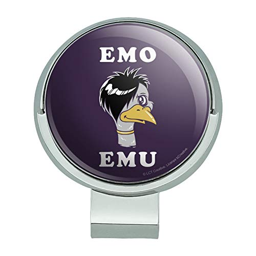 GRAPHICS & MORE Emo Emu Funny Humor Golf Hat Clip with Magnetic Ball - Hat Emu