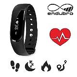 endubro ID101 HR Fitness Armband - fitness tracker - smart bracelet - Smartwatch für Android Smartphone und iPhone, Schrittzähler, Herzfrequenz - Monitor, Push-Message und Anrufer - ID Benachrichtigung, Photo-Fernauslöser, Handy-Suchfunktion, Steuerung der Musikwiedergabe