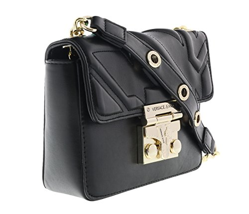 Versace EE1VQBBO2 E899 Black Satchel - Versace Bag Black