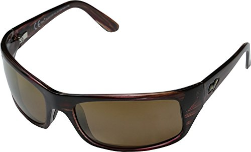 8d2c32d4aa8d4b Maui Jim Peahi H202-10   Polarized Oval Sunglasses, Burgandy Tortoise One  Size